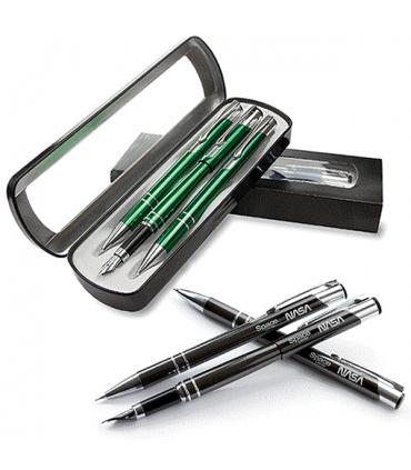 Cosmo cu 3 elemente: Stilou - Pix - Creion metalic
