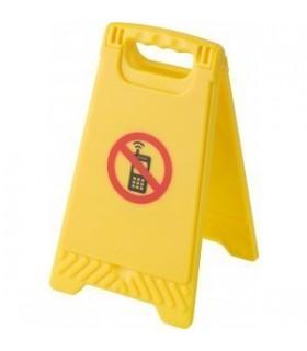 """Semn de atentionare din plastic """"Fara telefoane mobile"""""""